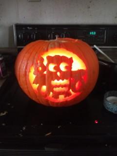 Owl boo jack-o-lantern