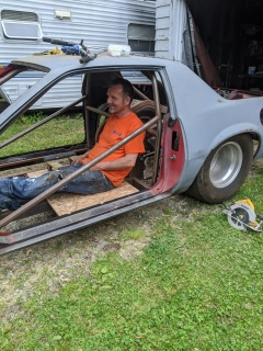Jeff Riebsomer: Doing what my dad loves best working on his race cars!! Love you dad!!